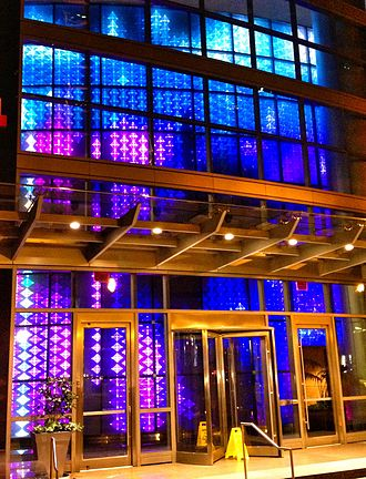 12th & Midtown - Lobby light show at 1075 Peachtree