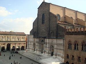 San Petronio Basilica - San Petronio Basilica and Piazza Maggiore.