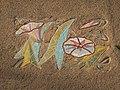 1130 Ebner-Rofensteingasse 8 Stg. 4 - Supraporte-Mosaik Ackerwinde von Marianne Neugebauer 1953 IMG 0712.jpg