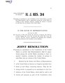 116th United States Congress H.J.Res. 034 (1st session) - Proposing an amendment to the Constitution of the United States to provide that Representatives shall be apportioned among the several States according.pdf