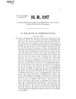 116th United States Congress H. R. 0000197 (1st session) - Special Counsel Independence and Integrity Act.pdf