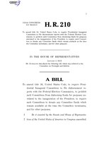116th United States Congress H. R. 0000210 (1st session) - Presidential Inaugural Committee Oversight Act.pdf
