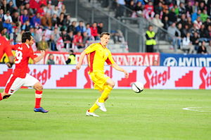 Vlad Chiricheș - Chiricheș in action for Romania against Austria in 2012