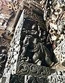12th-century Indra Indrani at Shaivism Hindu temple Hoysaleswara arts Halebidu Karnataka India.jpg