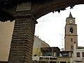 138 Campanar de Sant Llorenç (Llorenç del Penedès), des dels jardins d'Oriol Martorell.JPG