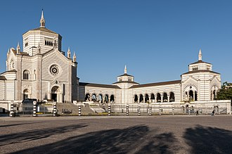Cimitero Monumentale di Milano - The Famedio (the main memorial chapel of the cemetery)