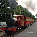 16.27 train for Port Erin arriving at Castletown (geograph 2590259) (cropped).jpg