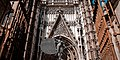 16Th Century Gothic Cathedral Of Seville (La Catedral De Sevilla) entrance, sculpture -The Triumph of Faith- (foreground) . Seville, Andalusia, Spain, Southwestern Europe.jpg