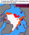 16 septembre 2007 et 2012 banquise avec au moins de 30 % de glace.png