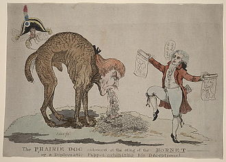 Presidency of Thomas Jefferson - The Prairie Dog is an anti-Jefferson satire, relating to Jefferson's covert negotiations for the purchase of West Florida from Spain in 1804.