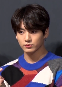 180524 Jungkook at a press conference for Love Yourself Tear (1).png