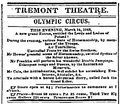 1843 circus TremontTheatre Boston DailyAtlas March14.png