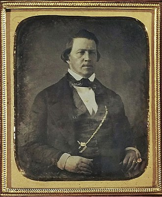 Brigham Young - A beardless Brigham Young in 1853.