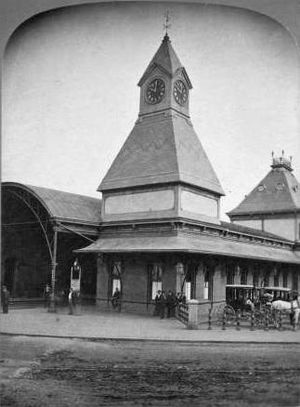 Lynn (MBTA station) - The 1872-built Central Square depot