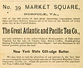 1888 Great Atlantic and Pacific Tea Co Advert for Norfolk.jpg