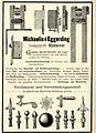 1896 circa Werbung Michaelis & Eggerding Hannover Verzinkerei und Vernickelungsanstalt.JPG