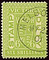1901 6sh Victoria Melbourne YvFP10 SG271 pea-green.jpg