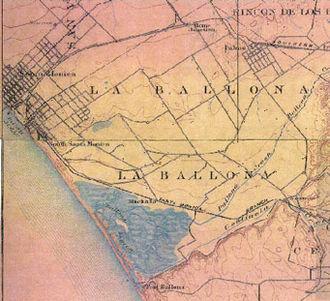 Port Ballona - 1902 Map of La Ballona and Port Ballona