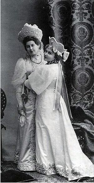 Anna Vyrubova - Anna Vyrubova and her sister Alexandra dressed for a ball in 1903.