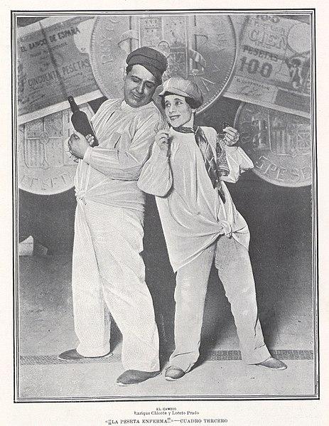 File 1905 07 01 el teatro la peseta enferma enrique for Calle loreto prado y enrique chicote