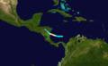 1908 Atlantic hurricane 9 track.png