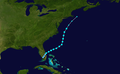 1953 Atlantic tropical storm 2 track.png