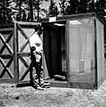 1963. Entomologist Charles Sartwell. Ips oregonis studies at Pringle Falls Experimental Forest. La Pine, Oregon. (34359200640).jpg