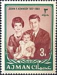 1964 stamp of Ajman JFK 6a.jpg