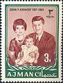 1964 stamp of Ajman JFK 6a.jpg