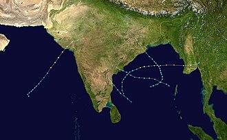 1982 North Indian Ocean cyclone season - Image: 1982 North Indian Ocean cyclone season summary