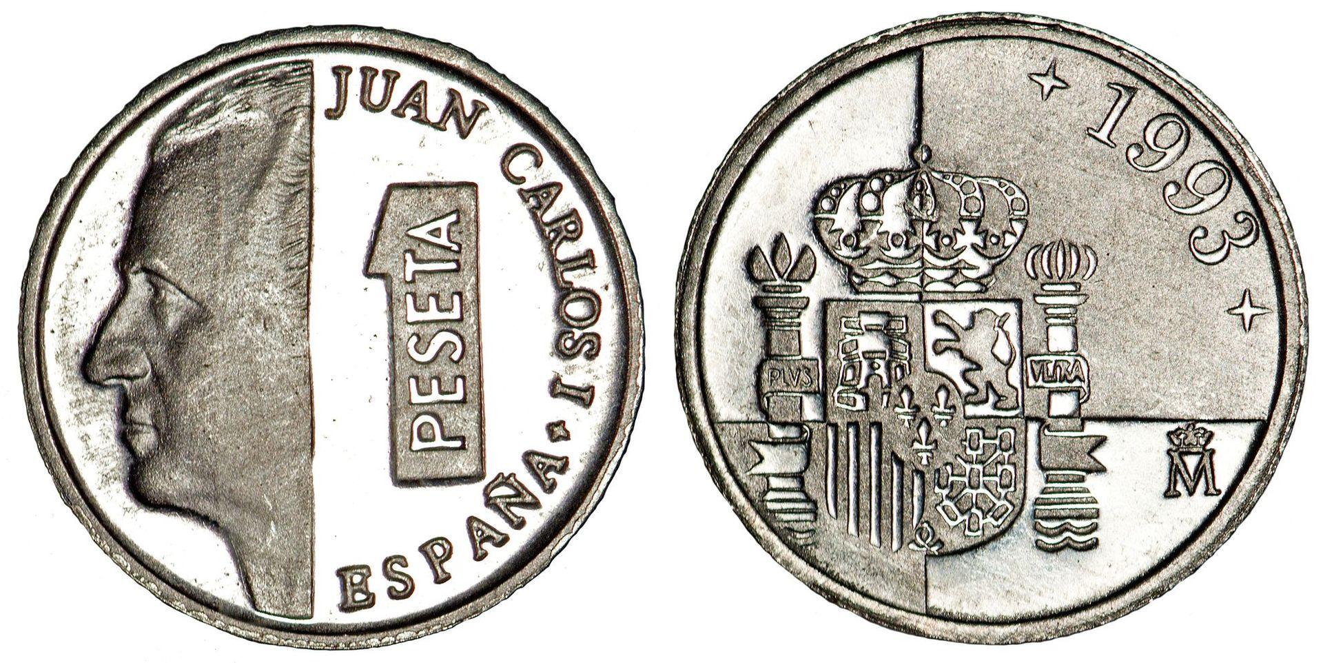 Moneda de 1 peseta, emisión de 1993.