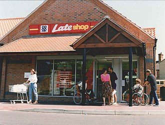 Co-op Food - Co-op supermarket in Kirton, Lincolnshire in 1995.