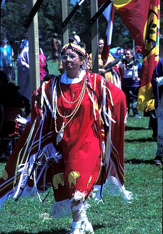 Paper and pulp industry in Dryden, Ontario - First Nation pow-wow
