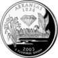 Arkansas quarter dollar coin