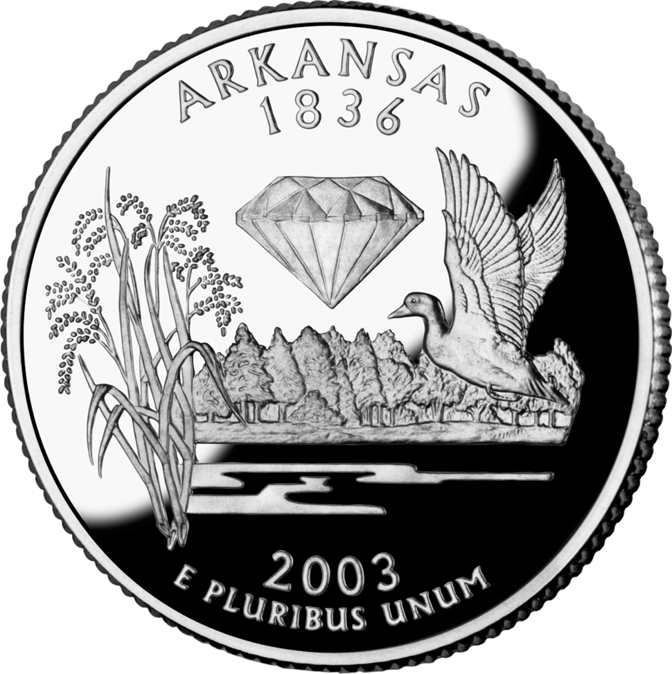 Arkansas quarter dollar coin