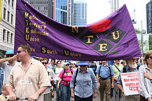 NTEU workers protest Howard's IR reforms