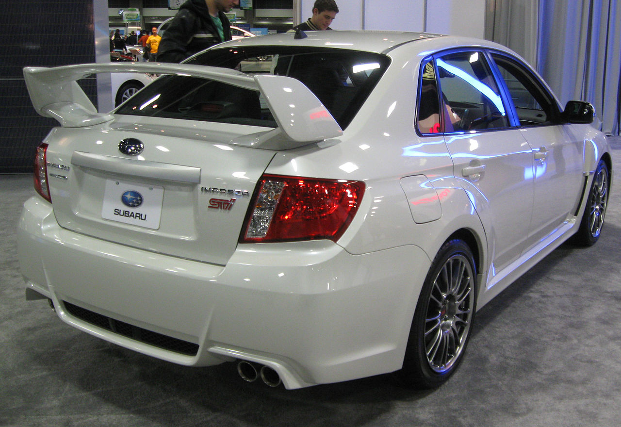 file 2011 subaru impreza wrx sti sedan rear 2011 wikimedia commons. Black Bedroom Furniture Sets. Home Design Ideas