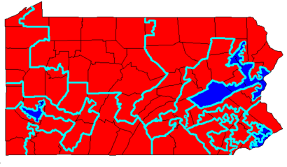 Pennsylvanias Congressional Districts Wikipedia - Us representative district map pennsylvania