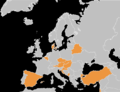 2013 European Men's Volleyball League teams.PNG