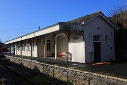 2013 at Liskeard station - Looe branch building.jpg
