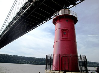 Upper Manhattan - Image: 2014 Little Red Lighthouse and George Washington Bridge landscape