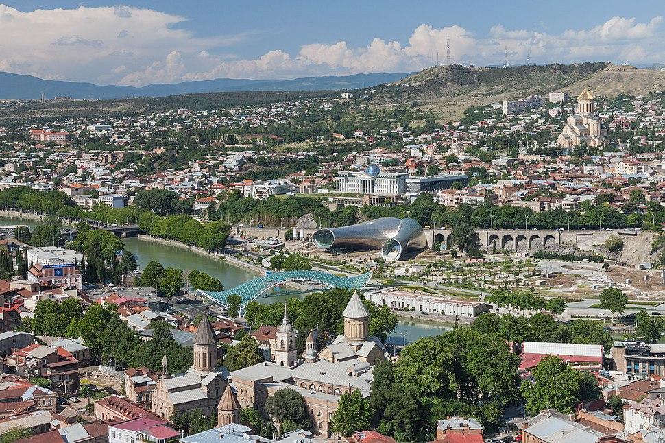 2014 Tbilisi, Widoki z Twierdzy Narikala (36)