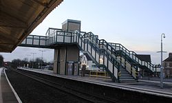 2015 at Chippenham station - new footbridge platform side.JPG