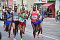 2017-04-23 GuentherZ Wien Marathonlauf F3 Nancy Kiprop+M18 Vincent Kipchumba Torotich+F8 Emma Quaglia+F1 Shuko Genemo 1194.jpg