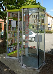 Street Library Made With A Telephone Booth At Giromagny France