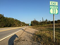 2017-09-10 18 26 31 View east along Vermont State Route 11 at Vermont State Route 30 in Winhall, Bennington County, Vermont.jpg