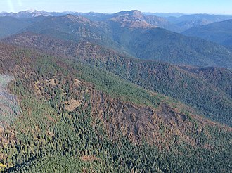 Salmo-Priest Wilderness - Image: 2017 North Fork Hughes Fire in the Salmo Priest Wilderness (40748380372)