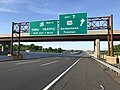 2018-05-21 18 28 55 View north along Interstate 95 (New Jersey Turnpike) at Exit 7 (U.S. Route 206, Bordentown, Trenton) in Bordentown Township, Burlington County, New Jersey.jpg
