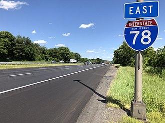 Clinton Township, New Jersey - I-78 eastbound through Clinton Township