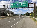 2018-10-24 12 37 20 View west along Virginia State Route 267 (Dulles Toll Road) at Exit 19B (Virginia State Route 123 NORTH, McLean) in McLean, Fairfax County, Virginia.jpg